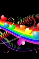 Preview iPhone wallpaper Love in the Rainbow Bridge