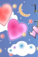 Vorschau des iPhone Hintergrundbilder Liebe macht zwei Herzen Eins