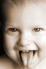 Preview iPhone wallpaper Make faces cute baby