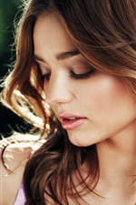 Preview iPhone wallpaper Miranda Kerr 01