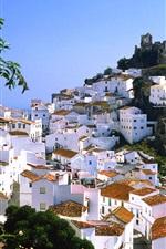 Preview iPhone wallpaper Mountain village of Casares