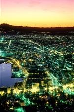 iPhone fondos de pantalla Noche de Hakodate en Japón