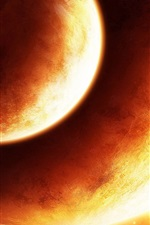 Preview iPhone wallpaper Orange Planet