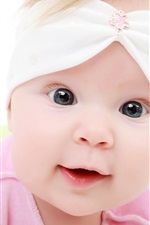 Preview iPhone wallpaper Pink clothes cute baby