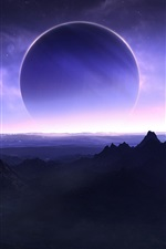 Preview iPhone wallpaper Planet on the horizon
