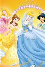 Preview iPhone wallpaper Princess dress show