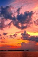 황혼에 레드 구름