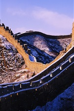Preview iPhone wallpaper Snow on the Great Wall