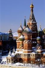 Preview iPhone wallpaper St Basil's Cathedral and Spassky Tower, Red Square