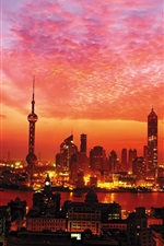Preview iPhone wallpaper Sunset in Shanghai