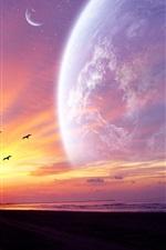 행성의 석양