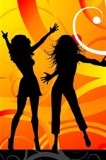 Vorschau des iPhone Hintergrundbilder Vector Dance-Girls