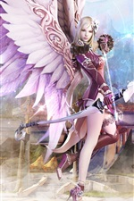 Preview iPhone wallpaper Aion girl wings