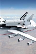 An-225 Mriya plane in sky