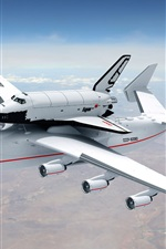 Preview iPhone wallpaper An-225 Mriya plane in sky