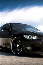 iPhone обои BMW автомобиль черного цвета