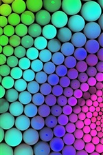 Preview iPhone wallpaper Balls rainbow colors