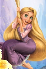 Princesa belos cabelos longos