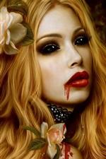 아름다운 뱀파이어 소녀
