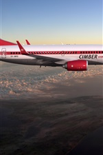 Preview iPhone wallpaper Boeing 737 flight in sky