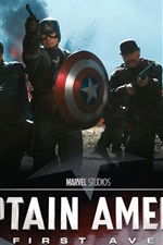 Preview iPhone wallpaper Captain America: The First Avenger HD