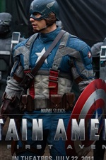 Preview iPhone wallpaper Captain America: The First Avenger