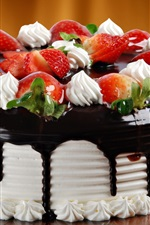 Preview iPhone wallpaper Chocolate cream cake