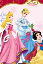 Preview iPhone wallpaper Christmas party princesses