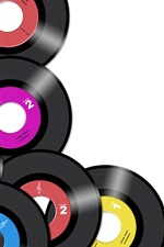 Preview iPhone wallpaper Colorful Music CD