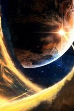 미리보기 iPhone 배경 화면 혜성 유성 소행성 행성