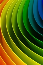 Preview iPhone wallpaper Curved colorful rainbow