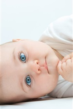 Preview iPhone wallpaper Cute baby sideways