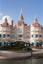Preview iPhone wallpaper Disneyland Paris Castle Hotel