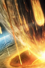 Preview iPhone wallpaper Earth asteroid doomsday