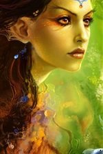 Preview iPhone wallpaper Fantasy girl siren princess