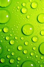 Preview iPhone wallpaper Green drops