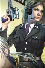미리보기 iPhone 배경 화면 핸드 총 판타지 소녀