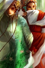 Preview iPhone wallpaper Hand-painted beautiful Beijing opera girl