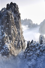 Preview iPhone wallpaper Huangshan Mountains in Winter in Anhui, China
