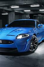 iPhone fondos de pantalla Jaguar azul coche