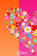 Preview iPhone wallpaper Love heart background