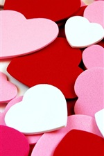 Preview iPhone wallpaper Love heart-shaped background