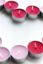 Preview iPhone wallpaper Love heart-shaped candle