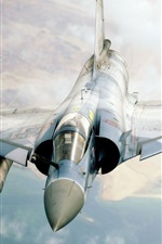 Preview iPhone wallpaper Mirage fighter flying cloud