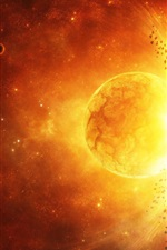 Preview iPhone wallpaper Planet explosion galaxy