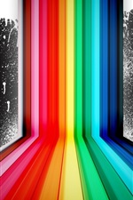 Preview iPhone wallpaper Rainbow color spray