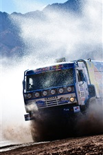 Preview iPhone wallpaper Red Bull KAMAZ truck