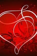 Preview iPhone wallpaper Romantic love heart