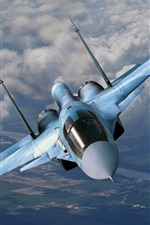 Preview iPhone wallpaper Su-35 Flanker-E