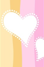 Preview iPhone wallpaper Two heart-shaped love